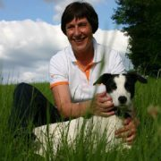 Dr. Treiber and dog photo